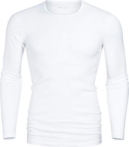 Mey vest met lange mouwen fijne rib wit maat 5