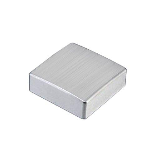 Universal Drehexcenter-Kappe quadratisch Edelstahl gebürstet/Drehknopf/Drehexenterkappe/Excenterknopf/Ersatzteil