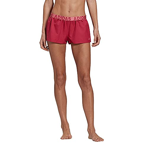 adidas Beach Shorts W Costume da Bagno Donna, Donna, Costume da Bagno, GM2458, Rosso (Rossil), L