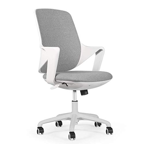 Stühle Sofas Computerstuhl nach Hause Arbeitszimmer Aufzug Sessel Wohnzimmer Drehstuhl Balkon Lounge Stuhl Büro Chef Stuhl Bürostuhl Firmenpersonal Stuhl (Farbe: Grau, Größe: 59 cm * 59 cm * 100 cm)
