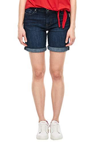 s.Oliver RED LABEL Regular Fit: Elastische Jeans-Bermuda dark blue 32