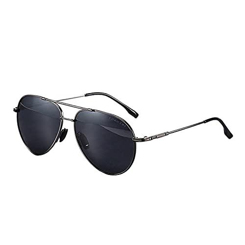 BEIAKE Gafas De Sol Luz Polarizada Adultos Gafas Marco UV Protección Gafas De Sol Piloto Adecuado para Ciclismo, Correr, Viajar, Playa, Drive Goggles,Plata