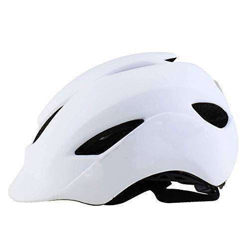 Casual Casco de equitación Integrado de moldeo, bicicletas casco ligero de ventilación portátil y ventilación montaña bicicleta de montaña Equipamiento for Carreteras eternal (Color : White)