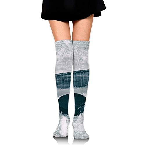 Nifdhkw Calcetines de tubo alto para niñas para hockey sobre hielo, accesorios para uniformes escolares