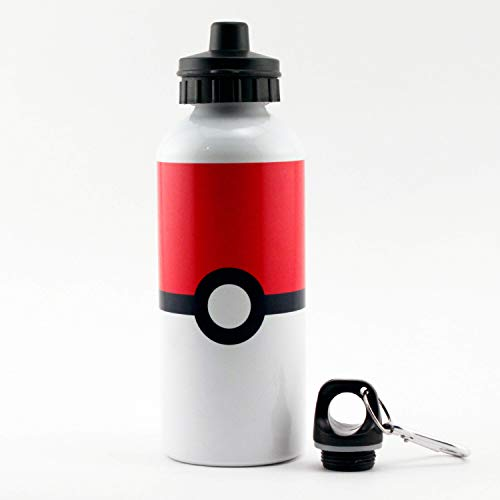 TOOLOUD Sporty Red and White Circle Aluminum 600ml Water Bottle