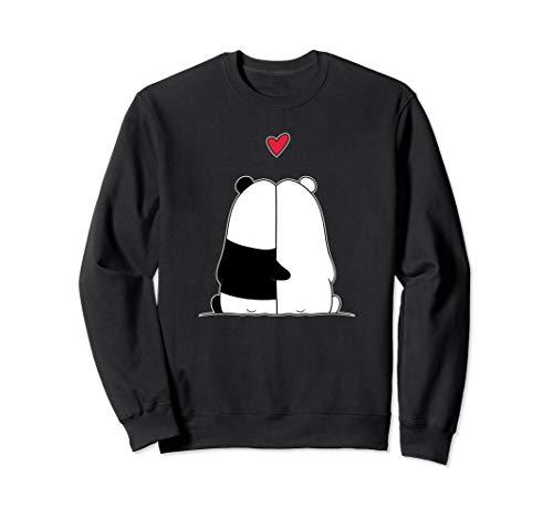 Pandabär Eisbär Liebespaar Valentinstag Sweatshirt
