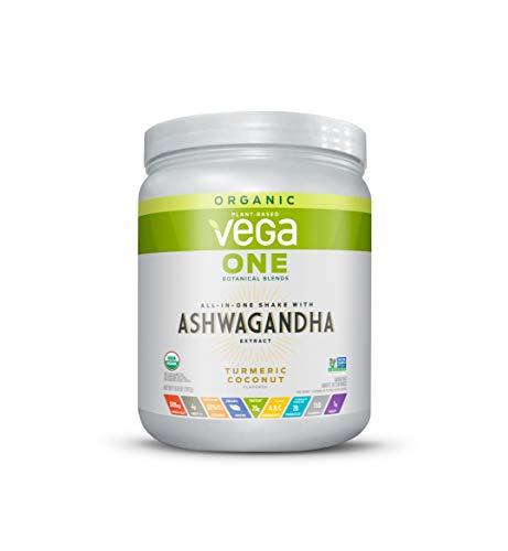Vega One Organic Botanical Blends, Turmeric Coconut with Ashwangandha, Plant Based Protein Powder with Adaptogens- Vegan Certified, Vegetarian, Gluten Free, Dairy Free, Non GMO (10 Servings, 13.08 Oz)