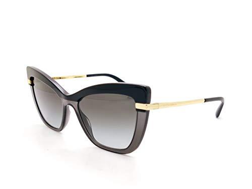Dolce & Gabbana sonnenbrille DG4374 32468G TOP BLACK ON TRANSP BLACK Schwarz grau größe 54 mm Damen