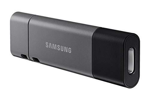 Samsung Memorie Duo Plus USB Flash Drive, USB 3.1, Type-C, Velocità di Lettura Fino a 300 MB/s, 64 GB, Grigio (MUF-64DB)