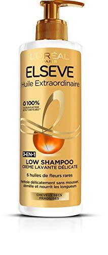Elsève Low Shampoo Nährstoff-Waschcreme, 1er Pack (1 x 400 ml)