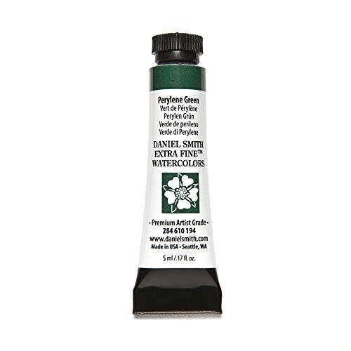 DANIEL SMITH, Perylene Green 284610194 Extra Fine Watercolors Tube, 5ml