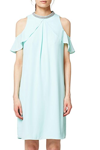 ESPRIT Collection Damen 058EO1E025 Kleid, Grün (Light Aqua Green 390), 42