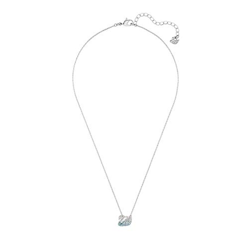 Swarovski Women's Iconic Swan Necklace, Finely Cut Swarovski Multicoloured Crystals, Rhodium Plated Chain, from the Swarovski Iconic Swan Collection