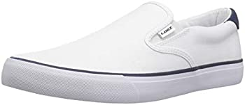 Lugz Men s Clipper Classic Slip-on Fashion Sneaker White/Peacoat Blue 10