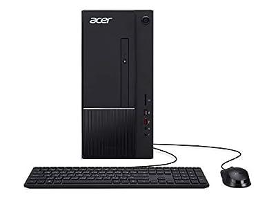 Acer Aspire TC-865-UR13 Desktop, 9th Gen Intel Core i3-9100, 8GB DDR4, 1TB 7200RPM HDD, 8X DVD, 802.11ac WiFi, USB 3.1 Type C, Windows 10 Home