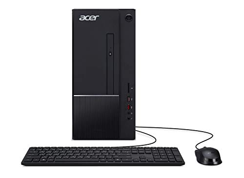 Acer Aspire TC-865-UR13 Desktop, 9th Gen Intel Core i3-9100, 8GB DDR4, 1TB 7200RPM HDD, 8X DVD, 802.11ac WiFi, USB 3.1 Type C, Windows 10 Home