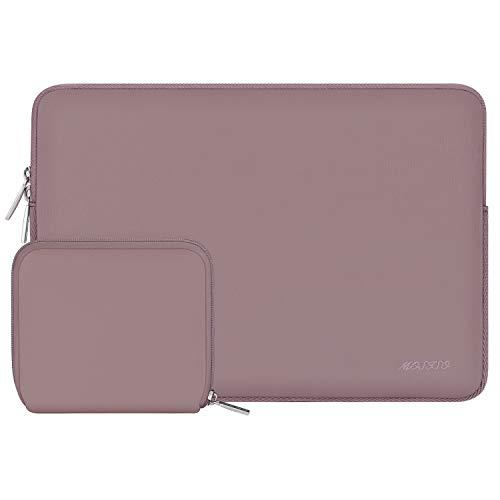 MOSISO Laptop Sleeve Kompatibel mit 13-13,3 Zoll MacBook Pro, MacBook Air, Notebook Computer, Wasserabweisend Neopren Tasche mit Klein Fall, Ziegel Rot