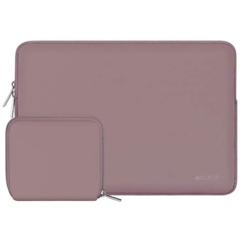 MOSISO Laptop Sleeve Compatible with MacBook Air 13 inch M1/A2337 A2179 A1932, MacBook Pro M1/A2338 A2289 A2251 A2159 A1989 A1706 A1708, 12.9 iPad Pro,Neoprene Bag Cover with Small Case, Brick Red