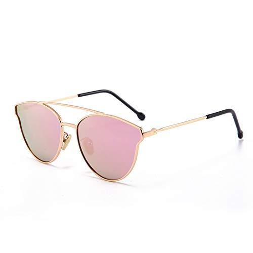 Sunglass Fashion Cute Cat Eyes Girls Gafas de Sol polarizadas con Caja de Metal Protección UV para niños de 3 a 12 años. (Color : Rosado)