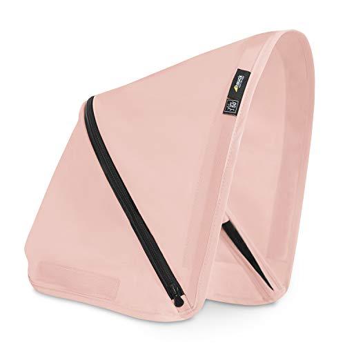 Capota Hauck de 3 zonas con protección UV 50+ para la silla de paseo Swift X, óptimos diseños, fácil de intercambiar para un estilo individual - rosa