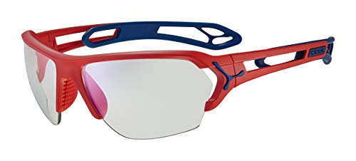 Cébé S'Track L Gafas de Sol, Adultos Unisex, Matt Red Blue, Large