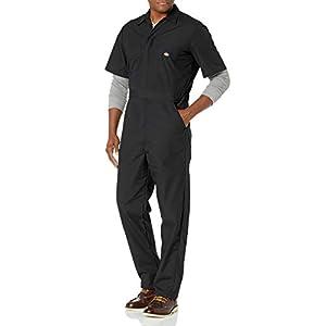 Dickies Men's Short Sleeve Coverall, Black, XX-Large Regular