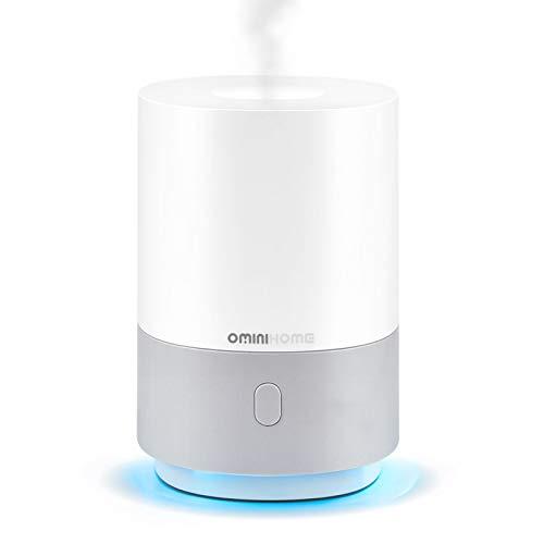 Ominihome Aroma Diffuser 100ml, kleiner Luftbefeuchter mit 7 Farben Lichter, USB, tragbare Duftlampen Humidifier mit automatischer Abschaltfunktion, Aromatherapie für Yoga/Spa/Schlafzimmer (100ml)