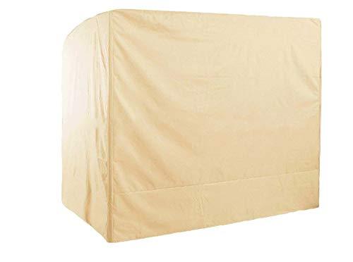 Mitef Housse de protection imperméable et anti-poussière pour balancelle de jardin - 220 x 125 x 170 cm - Beige