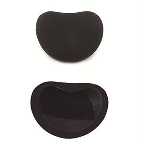 VINER Silicona Pétalos mamarios Empanadas Insertos de Pasta para el Pecho Almohadillas mamarias Accesorios de Esponja Mujeres Sujetador Push up Cubierta de pezón, Negro