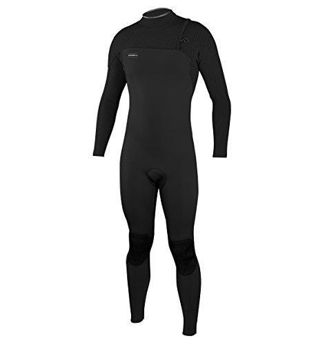 O'Neill Men's Hyperfreak 3/2mm Zipless Full Wetsuit, Black/Black, Medium Short