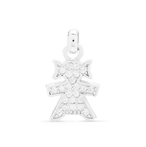 Ciondolo in argento per mamma con bambina da inserire su collana o braccialetto. Marca Luxenter PH06200.