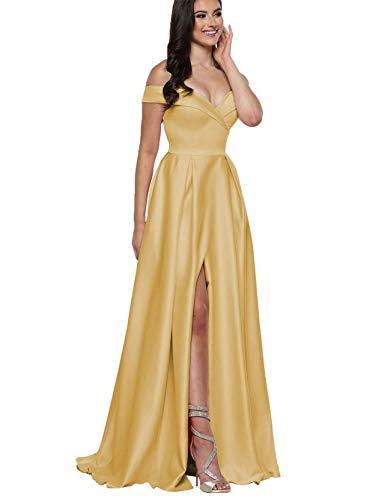 Wedding Dress Off the Shoulder Satin Skirt