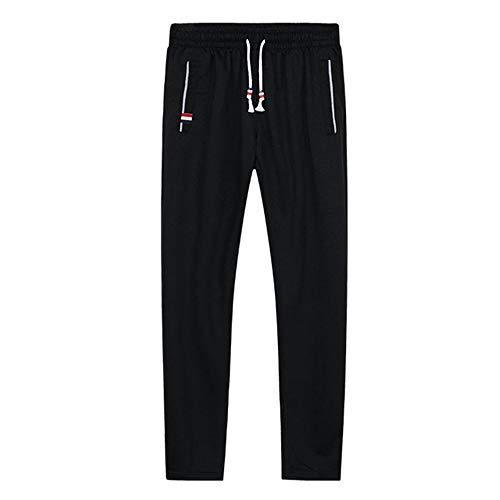 N\P Pantalones deportivos de talla grande de los hombres de jogging pantalones deportivos cintura elástica deportes pantalones casuales