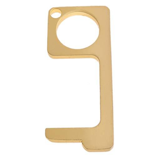 Ocobudbxw Aide de Porte Ouverte Portable zéro Toucher Anti germes Bouton d'ascenseur tiroir poignée de Porte Assistant sécurité Porte-clés sans Contact