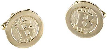 BitcoinMerch.com - Bitcoin Cufflinks Gold Plated Cuff Links