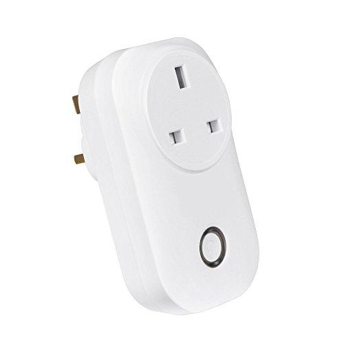 Smart Wireless Outlet Plug, Junefish Wifi Outlet Plug Werkt met Echo Alexa Aan/Uit Uw Electronics APP Afstandsbediening Timing Funciton Overal voor iPhone Samsung IOS Android-apparaten