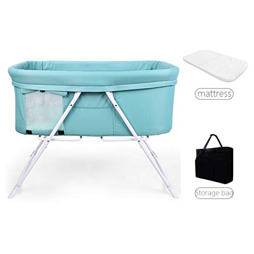 Find Bargain Balance Bouncer Cradle Foldable Baby Bouncer Bed Cradle with Stationary Rock Mode Safe ...