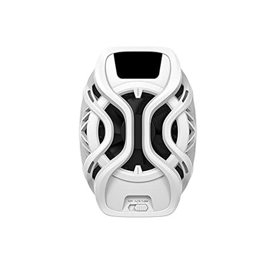 TWDYC Refrigeradores de teléfono móvil refrigerante Radiador de refrigeración Gaming Teléfono Universal Soporte de Ventilador para el Juego móvil Fan de refrigeración del teléfono (Color : White)