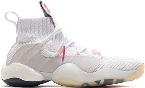 adidas Originals Crazy BYW Boost You Wear X High Indoor Basketball Hallenschuhe Sneaker Weiss/grau/orange B42246, Schuhgröße:42 2/3 EU