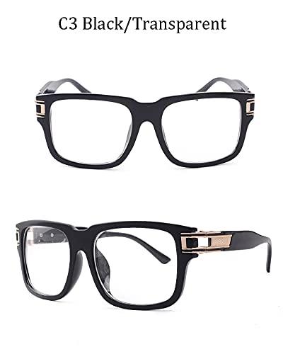 N\C Gafas de Sol/Gafas de Sol polarizadas de Doble Puente/Gafas de Sol polarizadas de Doble Puente/Gafas de Sol clásicas Retro, Gafas de Sol con protección UV 100% para Hombres y Mujeres