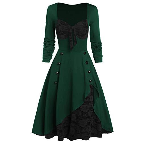 Aiserkly Vestido gótico para mujer, talla grande, con hombros al aire, con mangas de mariposa, disfraz de bruja medieval renacentista, cosplay, carnaval Y-verde. XXXXXL