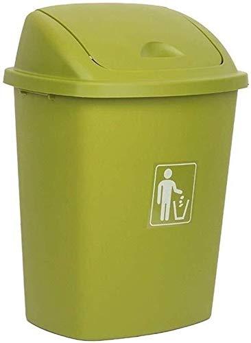 Al Aire Libre Grande Bote de Basura, Escuela de Hostelería Restaurante Bote de Basura con Tapa Antideslizante de Basura Verde de Can Comercial Bote de Basura (Color : Green, Size : 65L)