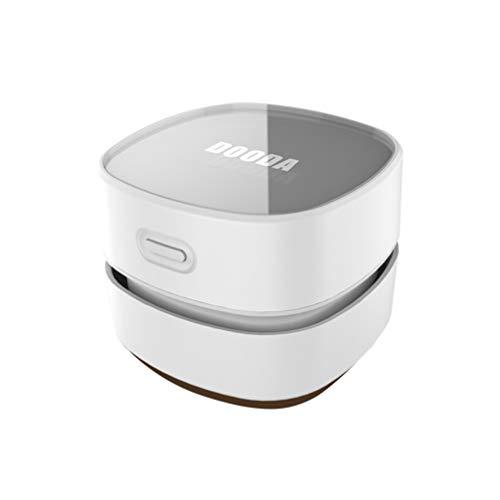 LIOOBO Tischstaubsauger USB Wiederaufladbare Tragbare Mini Tischstaubkehrmaschine für Computertastatur Home Office Weiß