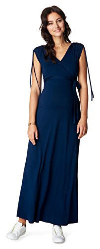 Noppies Dress nurs Long May 70213 Vestito maternità, Blu (Midnight Blue C163), 44 (Taglia Produttore: M) Donna