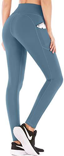 IUGA Leggings de cintura alta para mujer, con bolsillo interior, pantalones de yoga para mujer