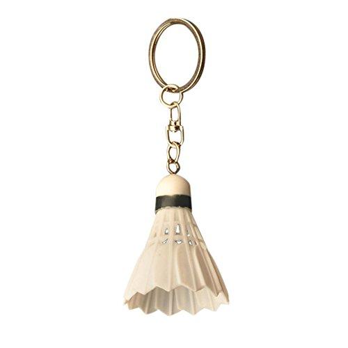 Hosaire 1x Schlüsselanhänger Damen Taschenanhänger Farbige Mini Badminton Anhänger Schlüsselbund Herren Tasche Deko Anhänger Auto Keychain
