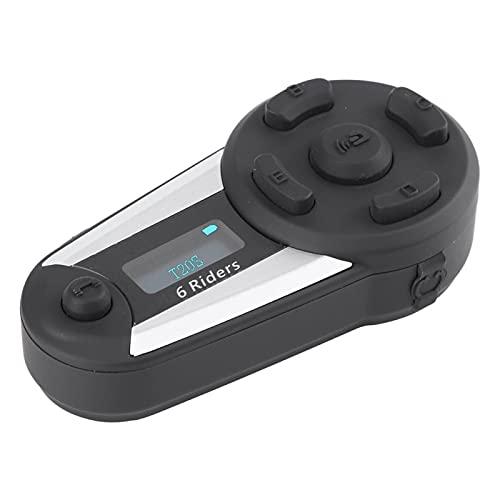 Auricular de moto con eliminación de ruido de viento DSP, auricular de radio FM con Bluetooth, conveniente, con pantalla OLED