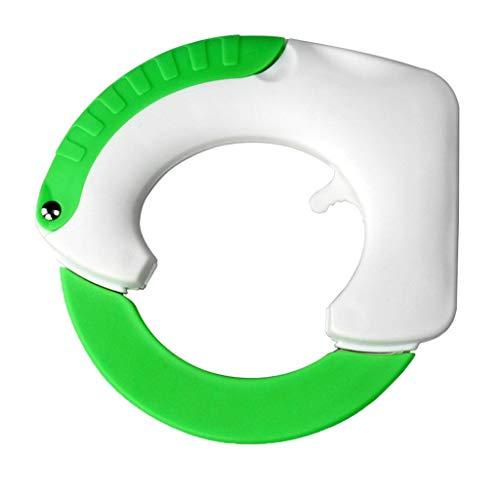 DEtrade 360 Cutter Multifunktionales Rundes Küchen Schneid Werkzeug aus Rostfreiem Stahl mit Pizza-Messer (Green)