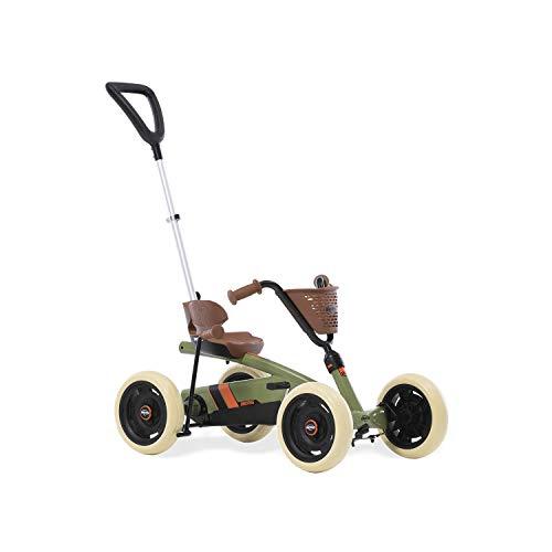 BERG Gokart Buzzy Retro 2-in-1 incl. Schubstange | Mit Schaltbarer Freilauf, Kinderfahrzeug, Sicherheid und Stabilität, Kinderspielzeug geeignet für Kinder im Alter von 2.5-5 Jahren