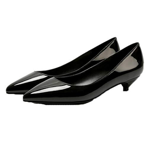 Bombas de Punta Puntiaguda para Mujer Zapatos de Cuero Elegantes de Charol Zapatos Antideslizantes Tacones Altos Fiesta de Bodas Tacones Altos